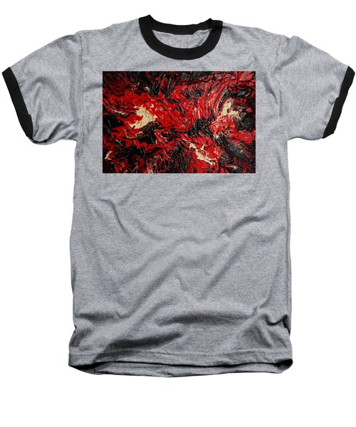 Black Cracks With Red Baseball T-Shirt