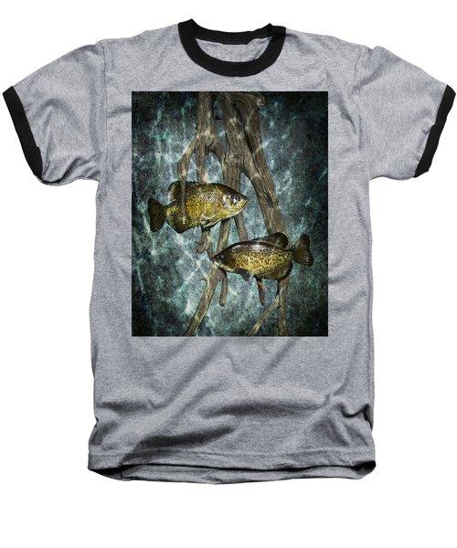 Black Crappies A Fish Image No 0143 Blue Version Baseball T-Shirt
