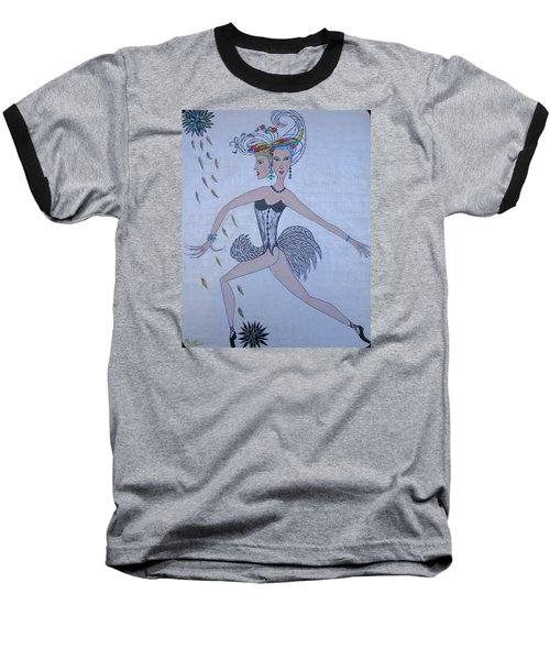 Black Dahlia Baseball T-Shirt by Marie Schwarzer