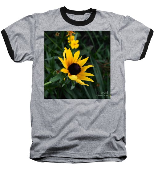 Baseball T-Shirt featuring the photograph Black-eyed Susan Glows With Cheer by Luther Fine Art