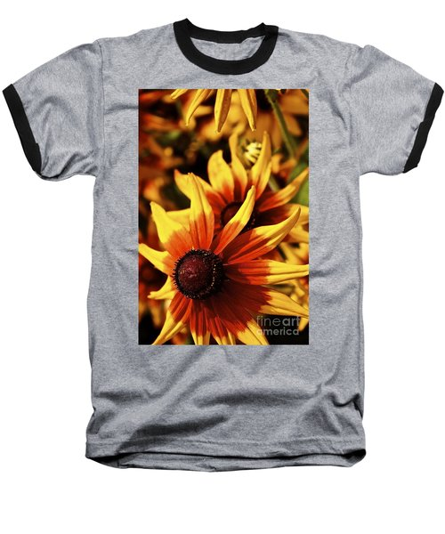 Baseball T-Shirt featuring the photograph Black Eyed Susan by Linda Bianic