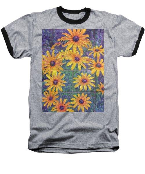 Baseball T-Shirt featuring the photograph Black-eyed Susan Squared by Brooks Garten Hauschild