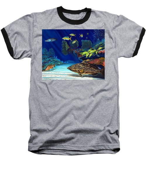 Black Grouper Reef Baseball T-Shirt