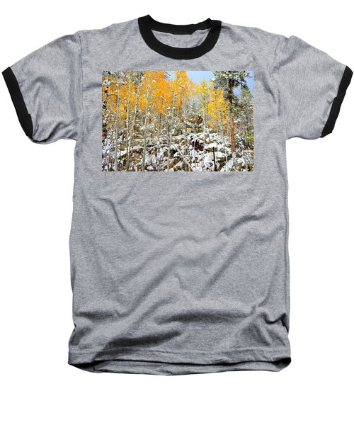 Black Hills Boulders Baseball T-Shirt by Clarice  Lakota