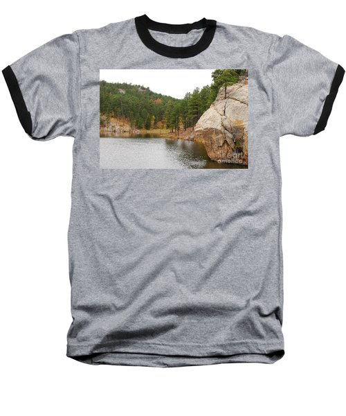 Baseball T-Shirt featuring the photograph Black Hills Lake by Mary Carol Story