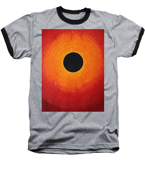 Black Hole Sun Original Painting Baseball T-Shirt
