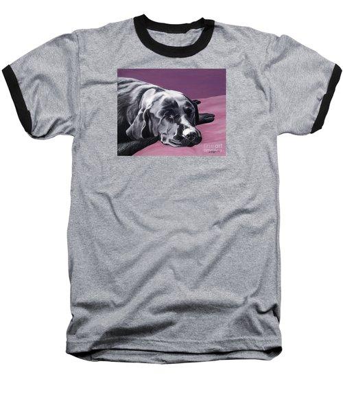 Black Labrador Beauty Sleep Baseball T-Shirt