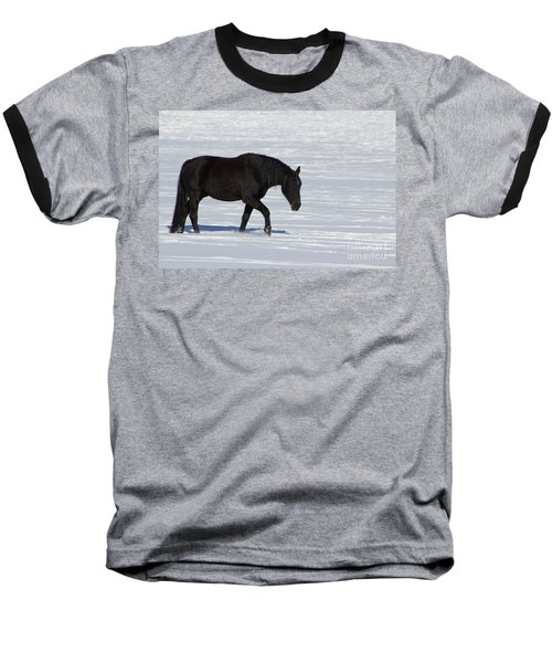 Baseball T-Shirt featuring the photograph Black Magic by Fiona Kennard