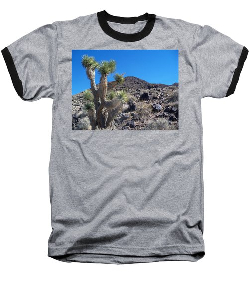 Baseball T-Shirt featuring the photograph Black Mountain Yucca by Alan Socolik