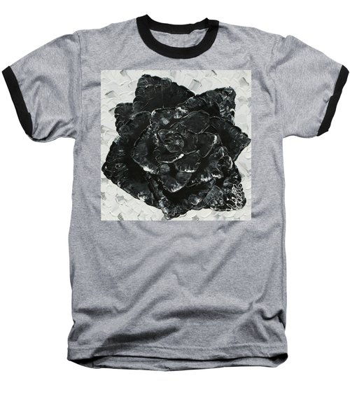Black Rose I Baseball T-Shirt