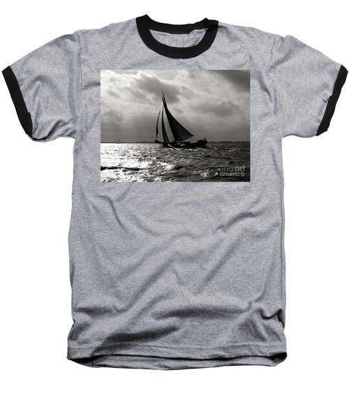 Black Sail Sunset Baseball T-Shirt