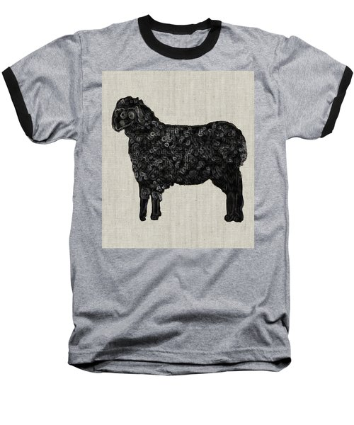 Black Sheep Baseball T-Shirt by Enzie Shahmiri