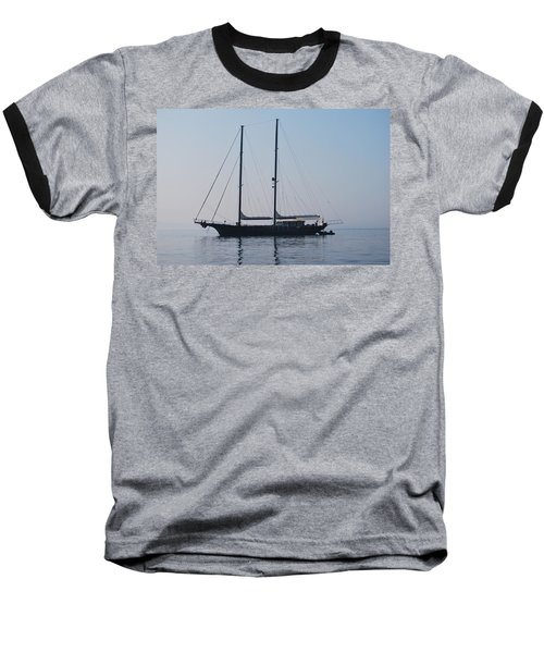 Black Ship 1 Baseball T-Shirt by George Katechis