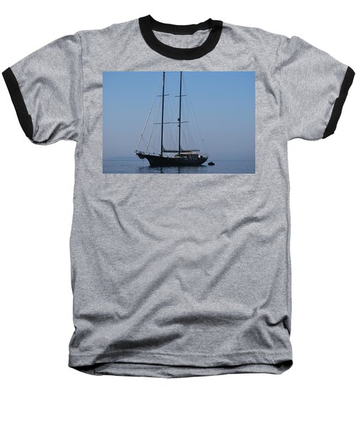 Black Ship Baseball T-Shirt by George Katechis