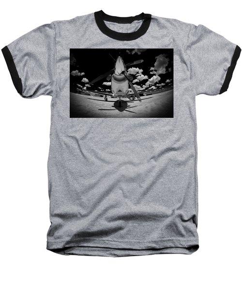Black Sky Baseball T-Shirt by Paul Job