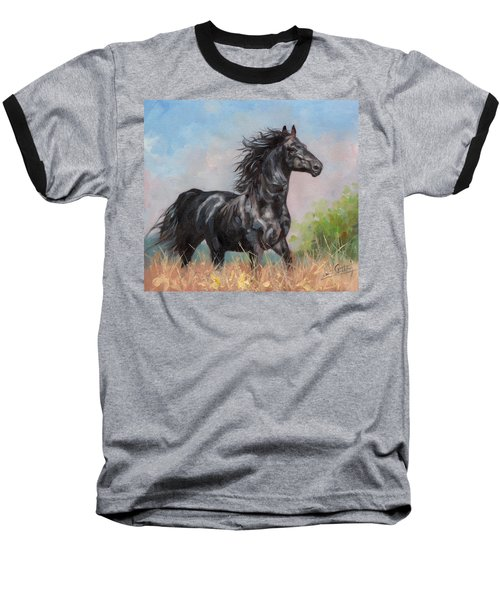 Black Stallion Baseball T-Shirt