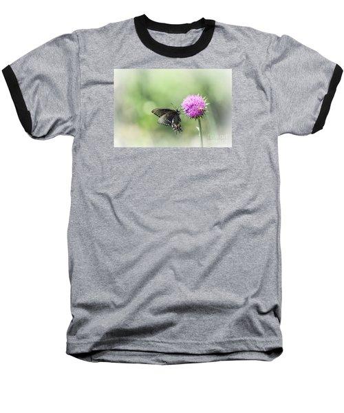 Black Swallowtail Dreaming Baseball T-Shirt