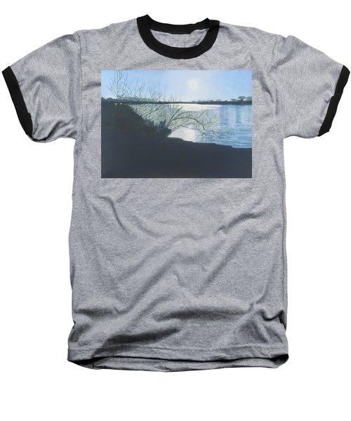 Black Swan Lake Baseball T-Shirt by Joanne Perkins