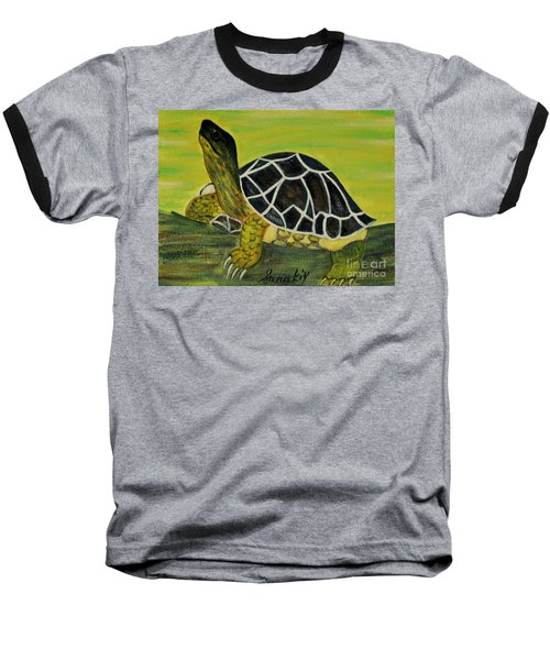 Black Turtle. Inspirations Collection. Baseball T-Shirt by Oksana Semenchenko