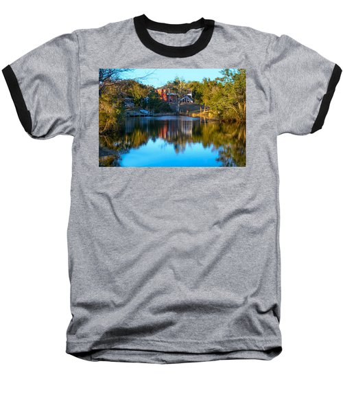 Black Water River In Blue Baseball T-Shirt