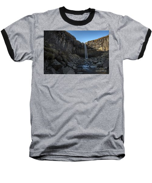 Black Waterfall Baseball T-Shirt