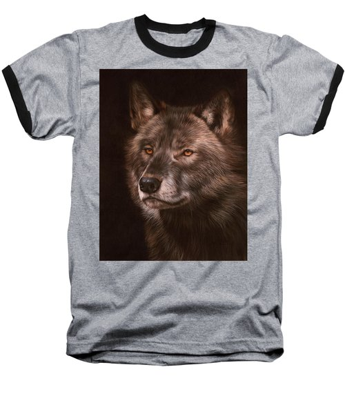 Black Wolf Baseball T-Shirt