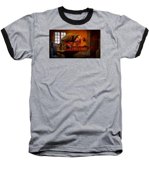 Blacksmith In Torresta Baseball T-Shirt by Torbjorn Swenelius