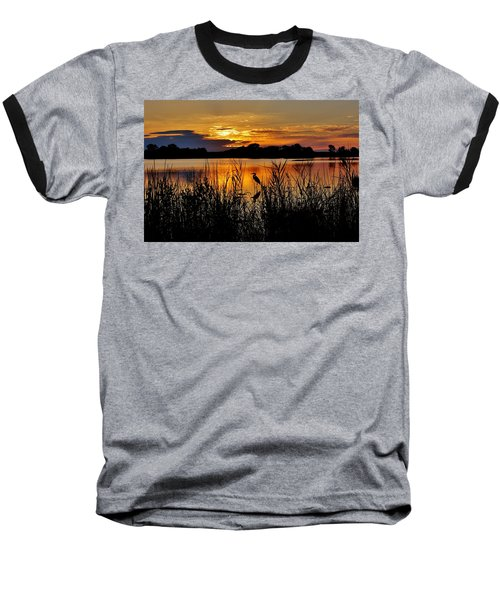 Blackwater Morning Baseball T-Shirt by Robert Geary