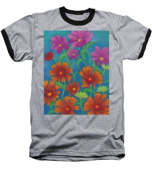 Blanket Flowers And Cosmos Baseball T-Shirt