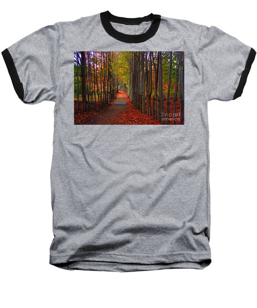 Blanket Of Red Leaves Baseball T-Shirt