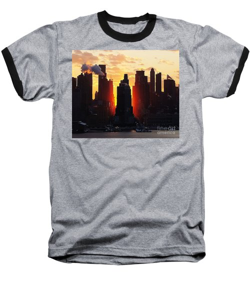 Blazing Morning Sun Baseball T-Shirt by Lilliana Mendez