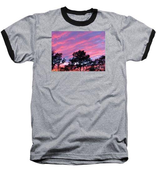 Baseball T-Shirt featuring the photograph Blazing Pines by Joy Hardee
