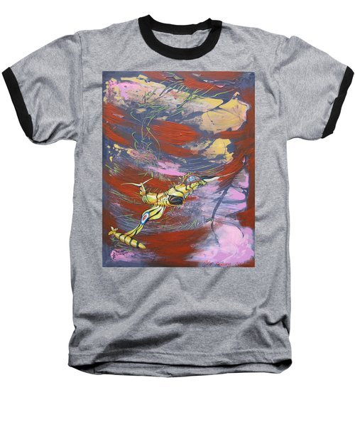Blazing Starfighter Baseball T-Shirt