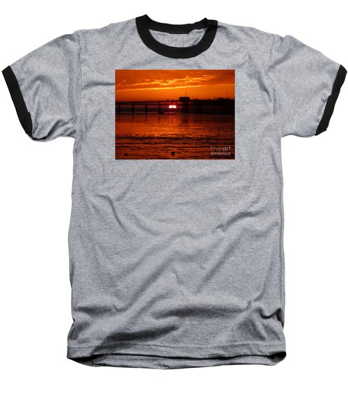 Baseball T-Shirt featuring the photograph Blazing Sunset by Vicki Spindler