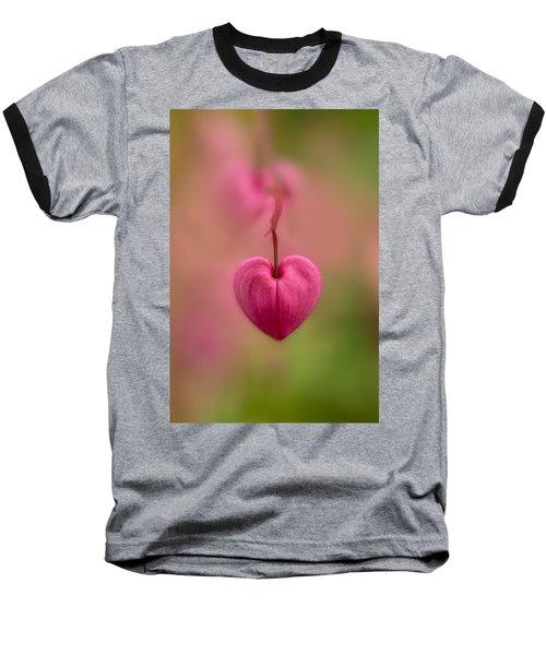 Bleeding Heart Flower Baseball T-Shirt