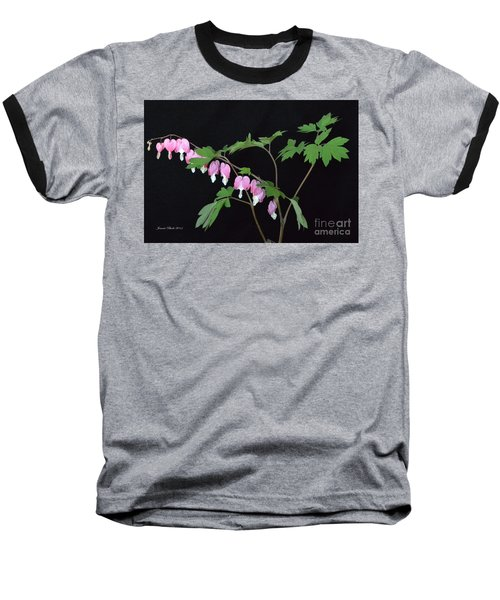 Baseball T-Shirt featuring the photograph Bleeding Hearts 2 by Jeannie Rhode