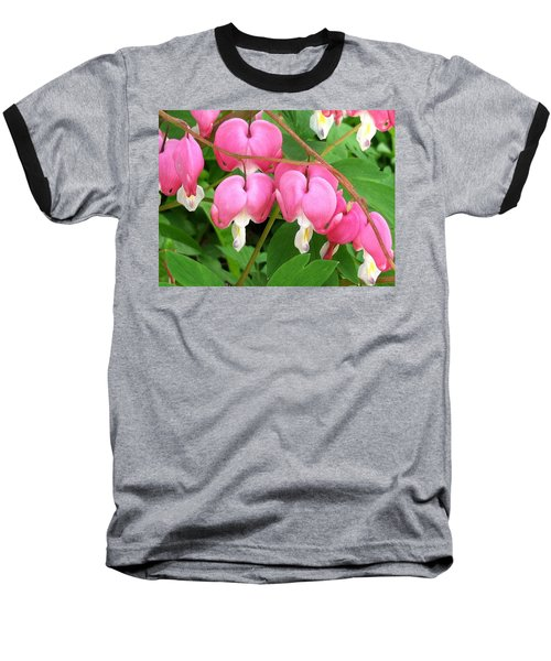 Bleeding Hearts On Parade Baseball T-Shirt