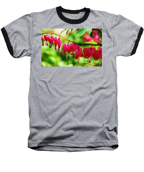 Romantic Bleeding Hearts Baseball T-Shirt