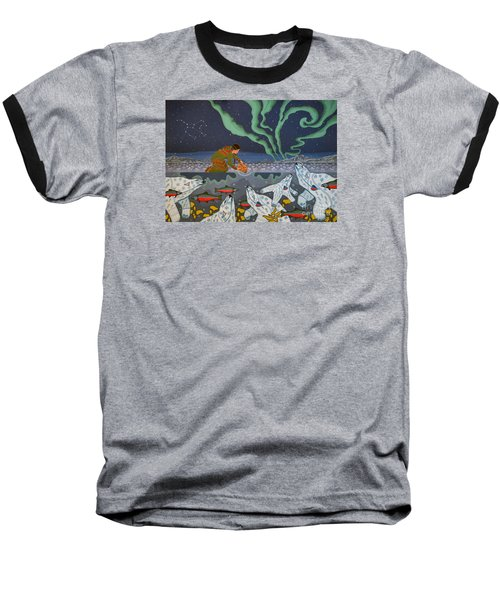 Baseball T-Shirt featuring the painting Blessing Of The Polar Bears by Chholing Taha