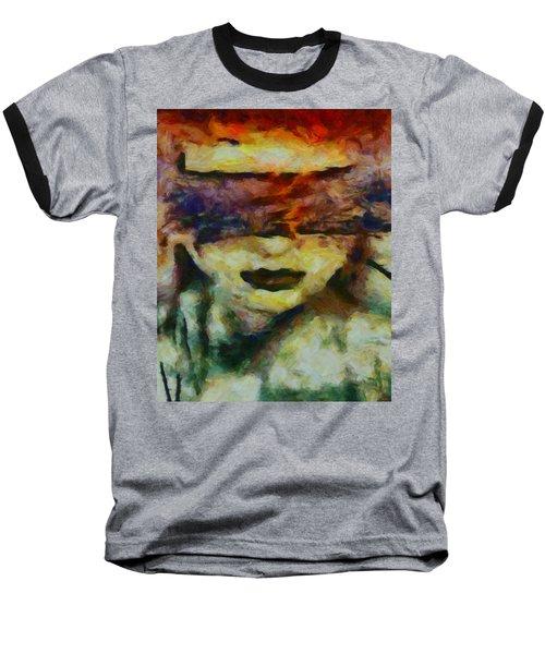 Baseball T-Shirt featuring the digital art Blinded By Sorrow by Joe Misrasi