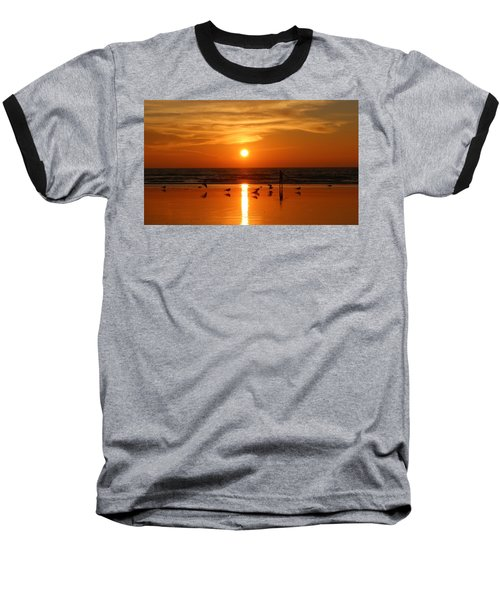 Bliss At Sunset   Baseball T-Shirt