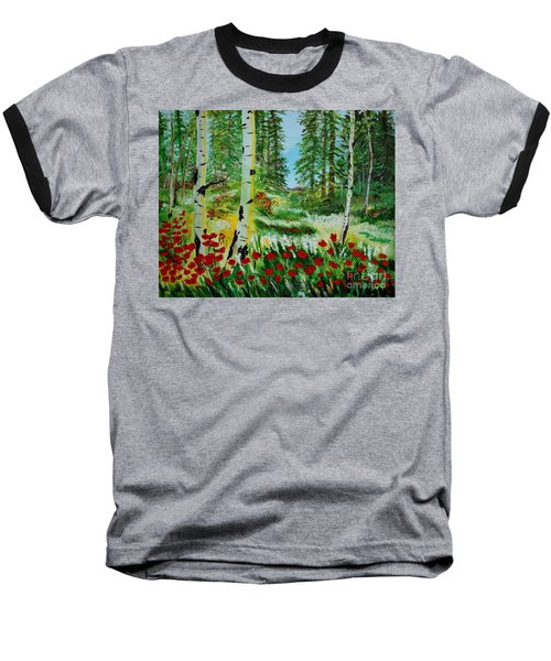 Baseball T-Shirt featuring the painting Bliss by Leslie Allen