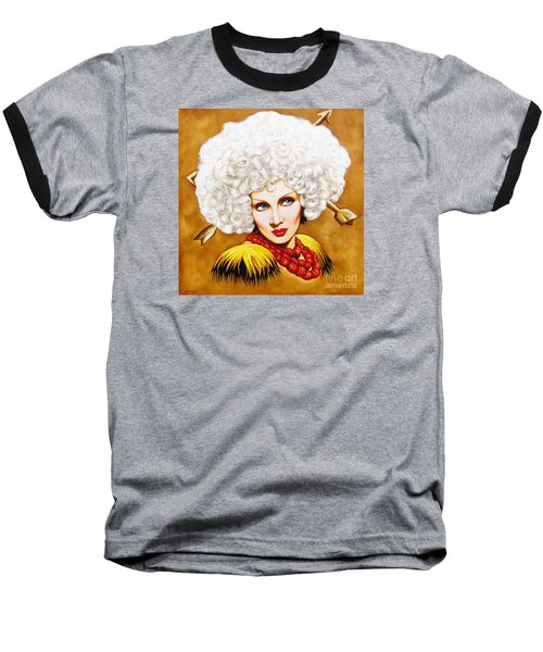 Baseball T-Shirt featuring the painting Blonde Venus by Joseph Sonday