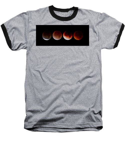 Baseball T-Shirt featuring the photograph Blood Moon by Joel Loftus