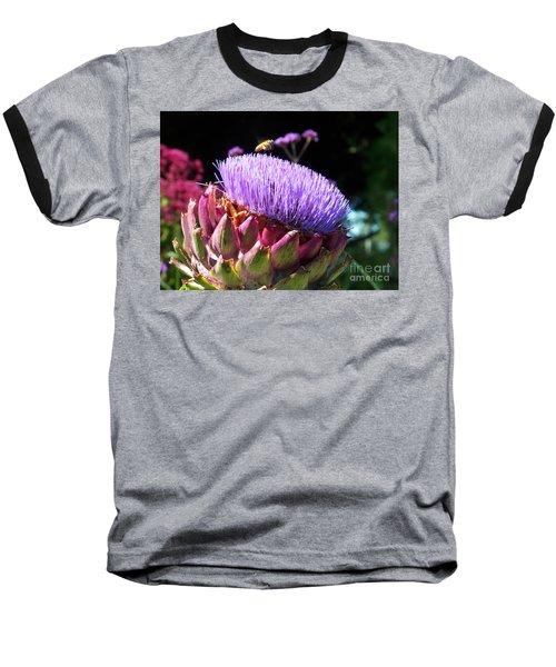 Blooming 'choke Baseball T-Shirt by Kathy McClure