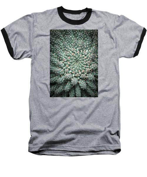 Blooming Geometry Baseball T-Shirt by Caitlyn  Grasso