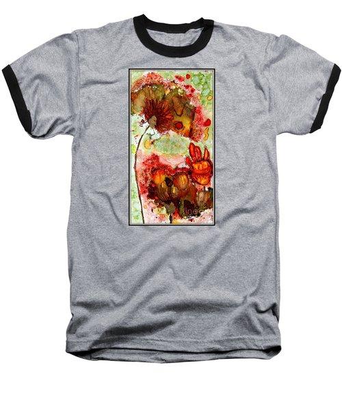 Blooming Impressions.. Baseball T-Shirt by Jolanta Anna Karolska