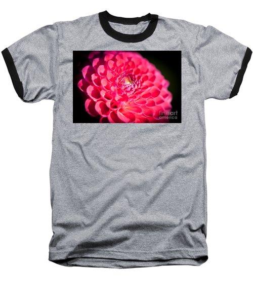 Blooming Red Flower Baseball T-Shirt