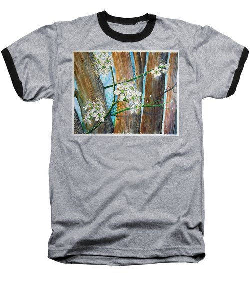 Blooms Of The Cleaveland Pear Baseball T-Shirt