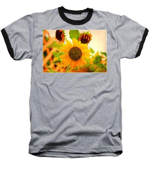 Blossoming Sunflower Beauty Baseball T-Shirt